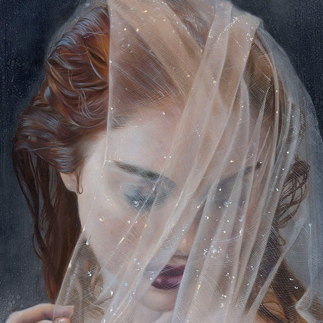 "Image of ""Bathing Silver Swan"" original painting"