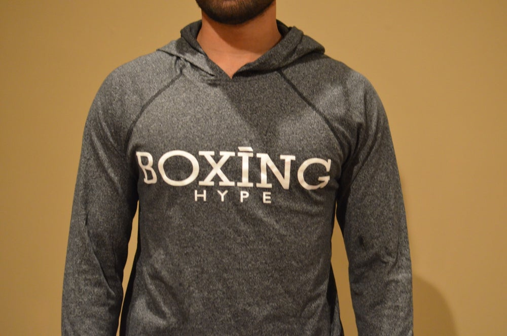 Image of Charcoal Black BoxingHype lightweight workout hoodies