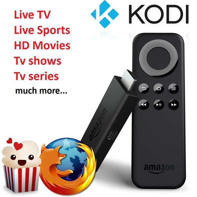 Image of Jail Broken Fully Loaded Amazon Firestick (Kodi 17.4 & Mobdro, Terrarium TV, OneBox HD and MORE!!)