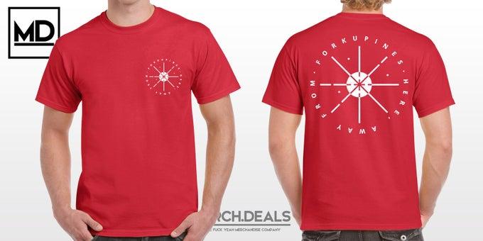 Image of PRE-ORDER Circles, dunkelrot - Shirt