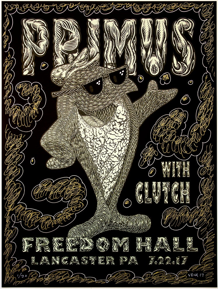 Image of Primus Tour Poster: Fish On (Variant: PsychoBioDelica)