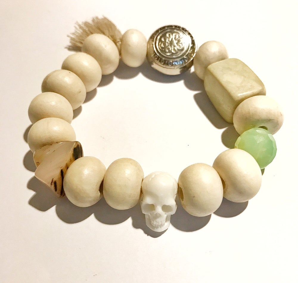 Image of WHITE COMBO 3 bracelets