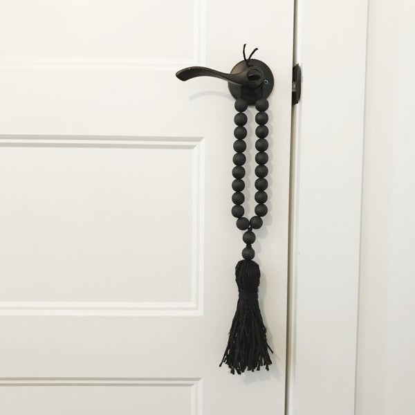 Image of MINI Love Beads - Modern Black Beads w/ Black Tassel