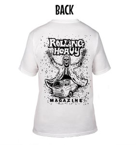Image of Rolling Heavy Magazine #13 Cover Art Pocket Tee.  Art by Shawn McKinney