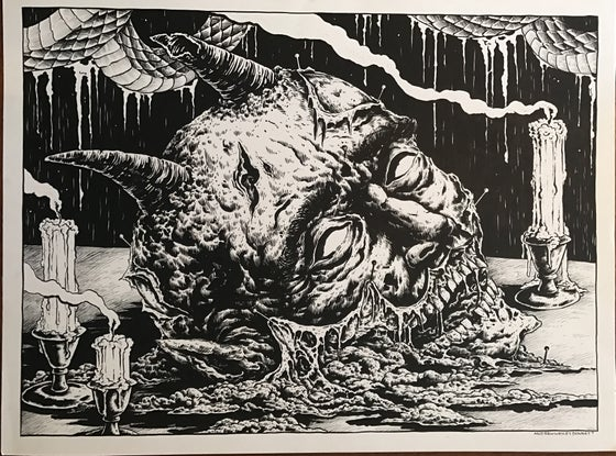 Image of Devil head on table
