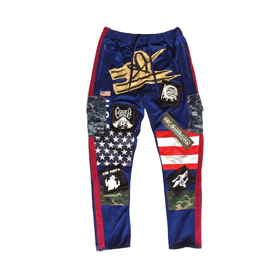 Image of LMF Track Pants (Navy Blue)