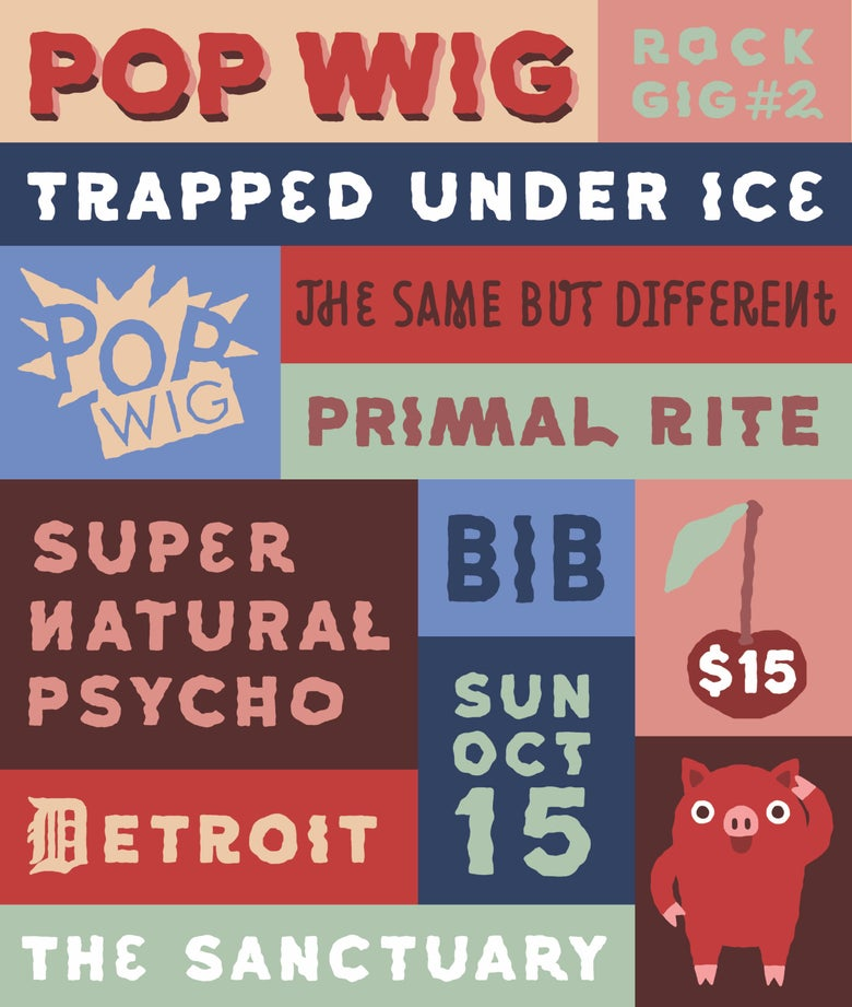 Image of 10/15 - Trapped Under Ice, Bib, Primal Rite, Super Natural Psycho