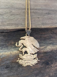 Image of Gold plated Mexican coin necklace