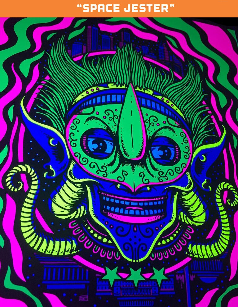 """Image of """"Space Captain"""" & """"Space Jester"""" art prints"""