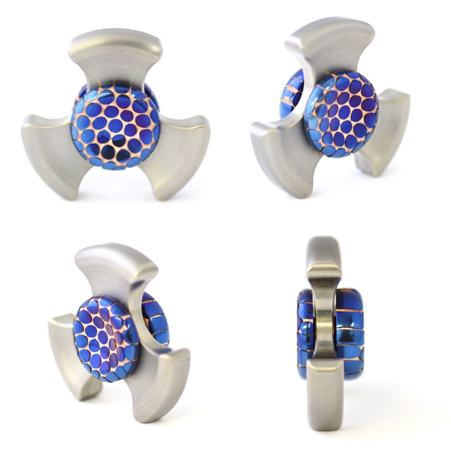 Image of XLarge Full Polished Blue Buttons