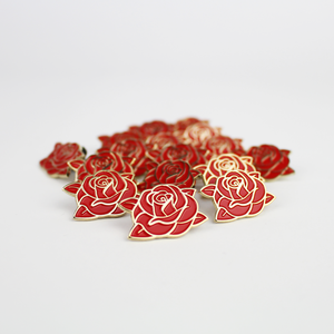 Image of CLASSIC SWARM ROSE PIN (RED)