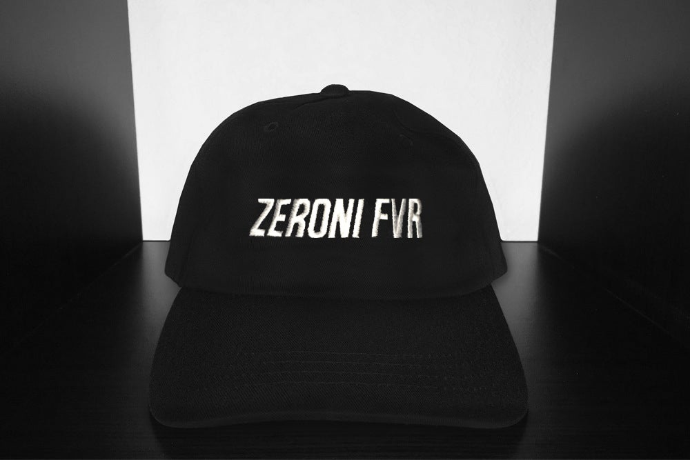 Image of ZERONI FVR ITALIC DAD HAT | EXCLUSIVE POP UP RELEASE