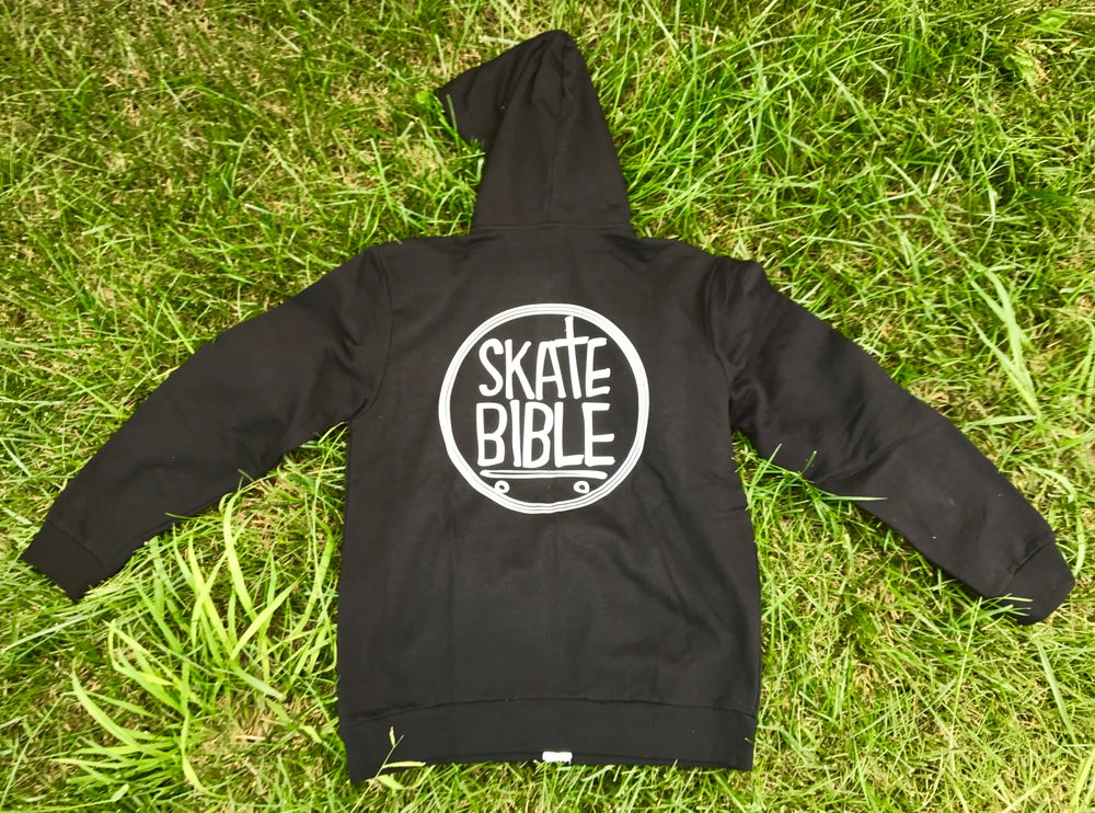 """Image of Limited Edition """"Skate Bible"""" Zipper Hoodie"""