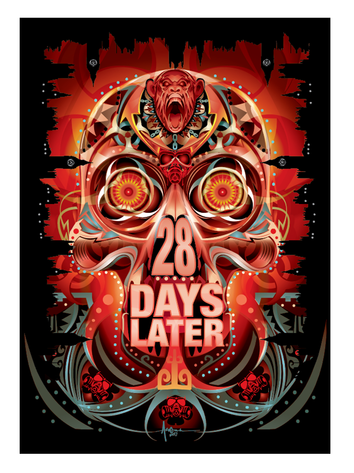 """Image of 28 Days Later- 18""""x24""""- Edition of 15 - 2017"""