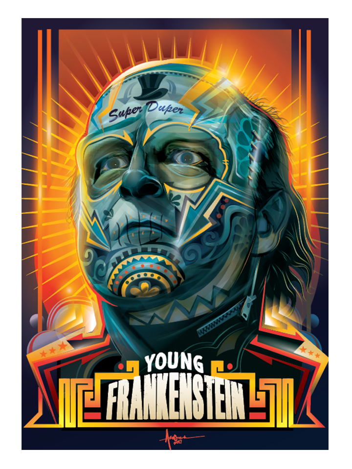 """Image of Young Frankenstein - 18""""x24"""" - Edition of 15-2017"""