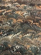 Image of Pattern #41 green and brown traditional wave