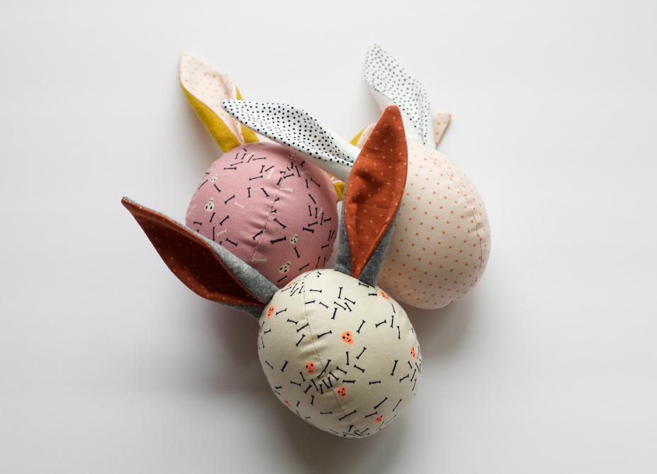 Image of the bunny rattle egg || halloween