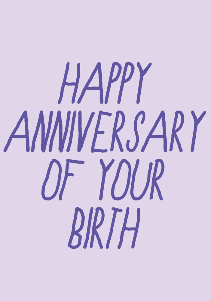 Image of happy anniversary of your birth