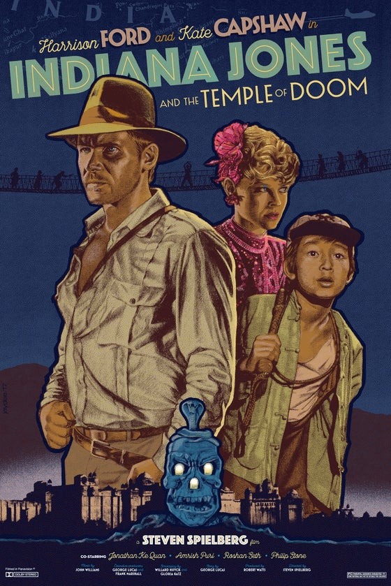 Image of INDIANA JONES AND THE TEMPLE OF DOOM BY JACK DURIEUX - SHIPPED ABROAD