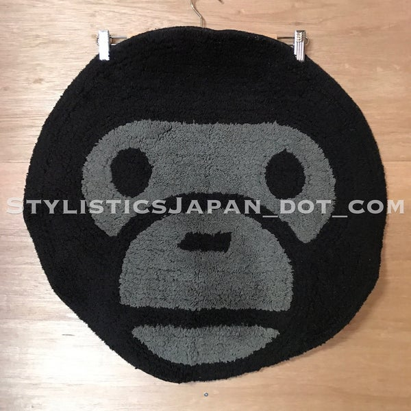 Image of A Bathing Ape Bape Baby Milo Face Rug Mat Black