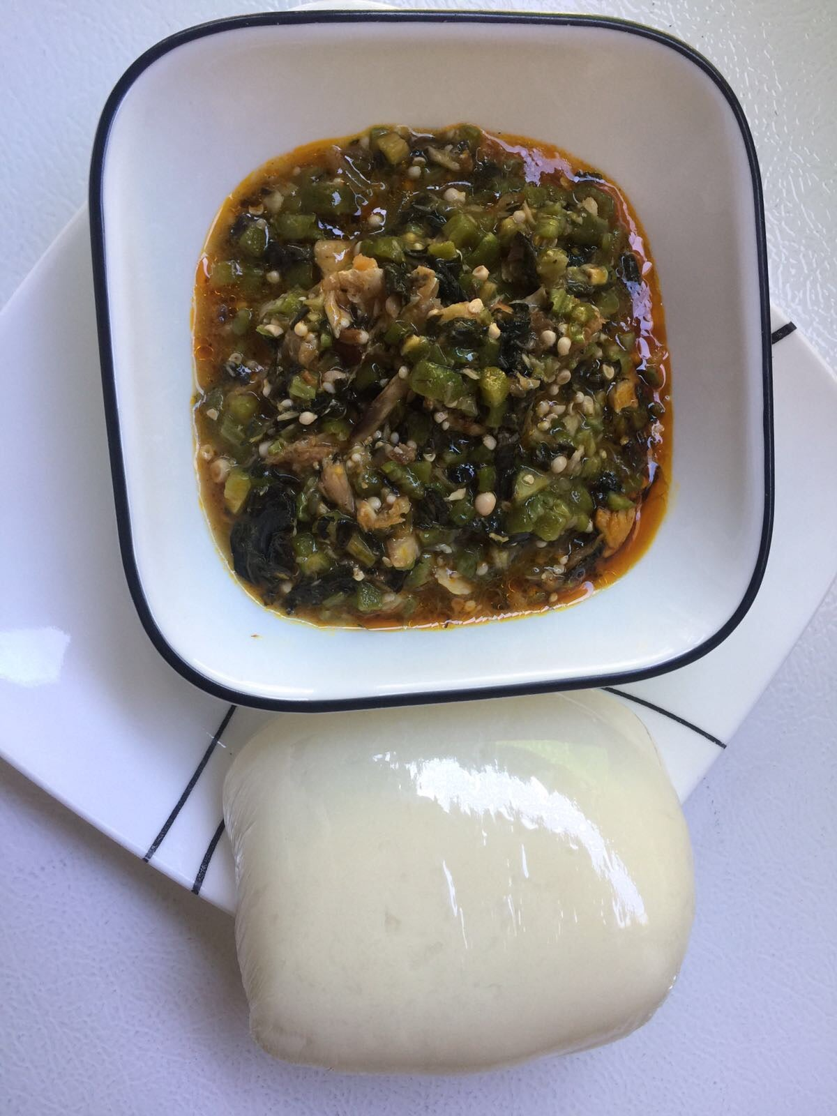 Image of Okra with Bitterleaf Soup
