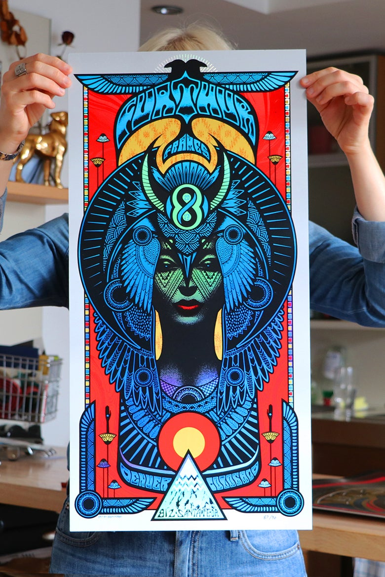 Image of Furthur Frames 8th Anniversary Silkscreen Poster