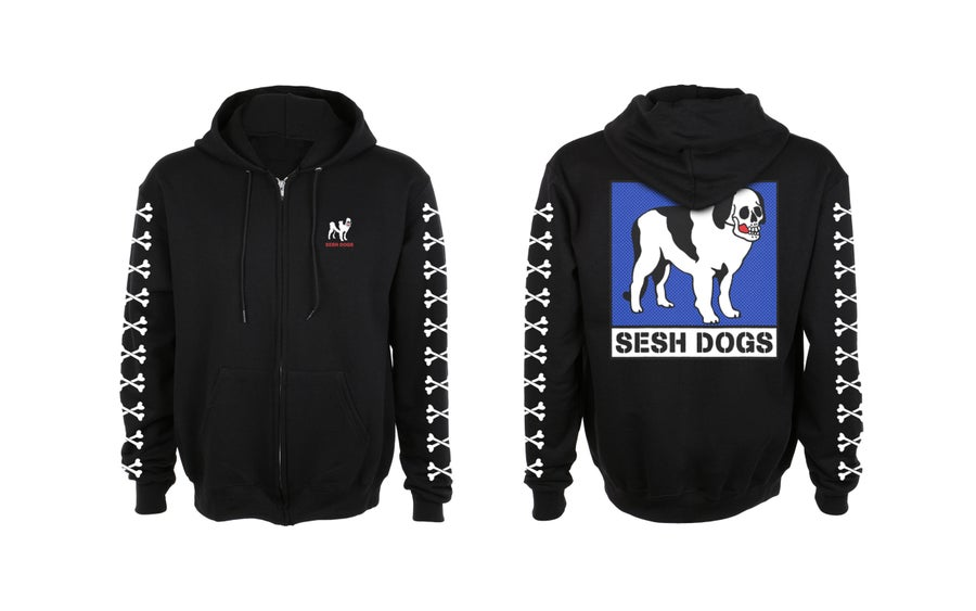 Image of SESHDOGS zip up hoodie
