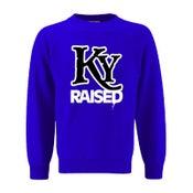 Image of KY Raised Crewneck Sweatshirt in KY Blue / White / Black