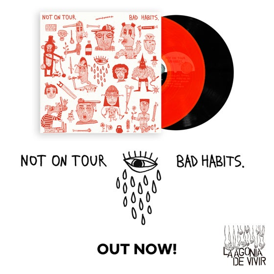 "Image of LADV94 - NOT ON TOUR ""bad habits"" LP REISSUE"