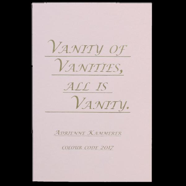 Image of Vanity of Vanities, All is Vanity.