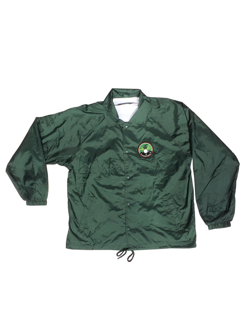 Image of East Side Powerviolence 'TEARS' Coaches Jacket (Hunter Green)