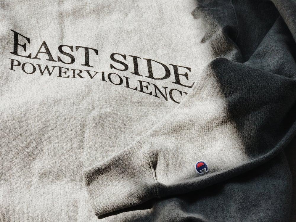 Image of East Side Powerviolence 'PSYWAR' Crewneck (Oxford Grey)