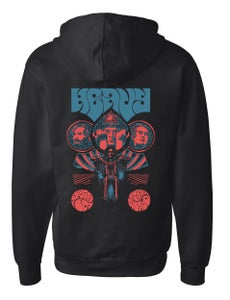 Image of TURN ON THE WORLD zip up hoodie