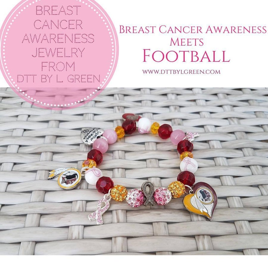 Image of Women's Football Breast Cancer Bracelet