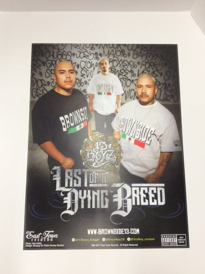 Image of 13 BOY'Z- Poster#4 [18x24] Last Of A Dying Breed