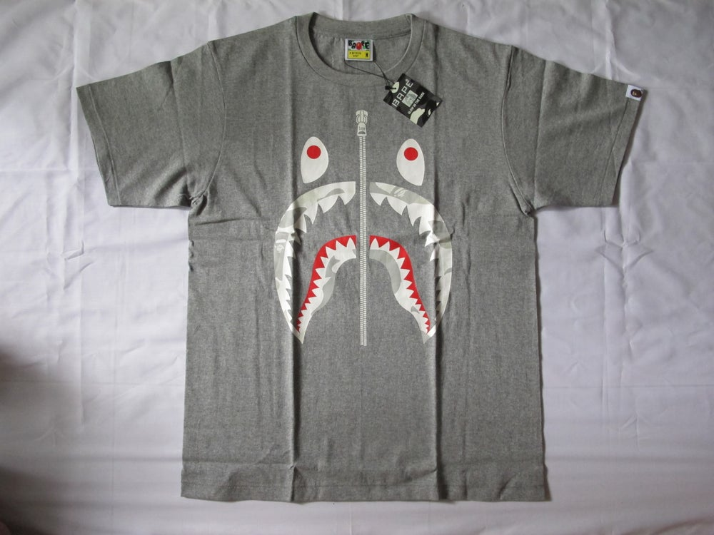 Image of A Bathing Ape (Bape) - Shark City Camo (Grey)