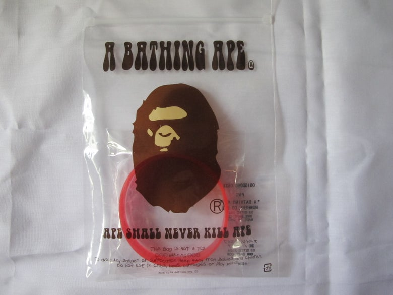 Image of A Bathing Ape - Rubber Bracelet (Red)