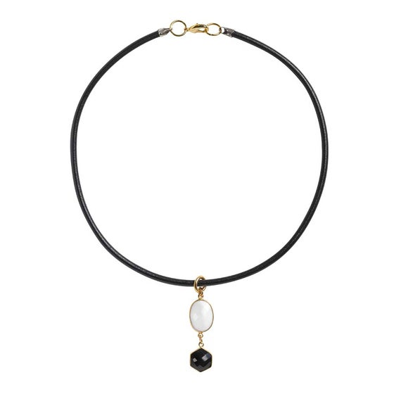 Image of SPELLBIND ONYX CHOKER NECKLACE