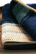 Image of Delightful Baby Blanket - a modern wrap for the little ones - Royal Blue Multi