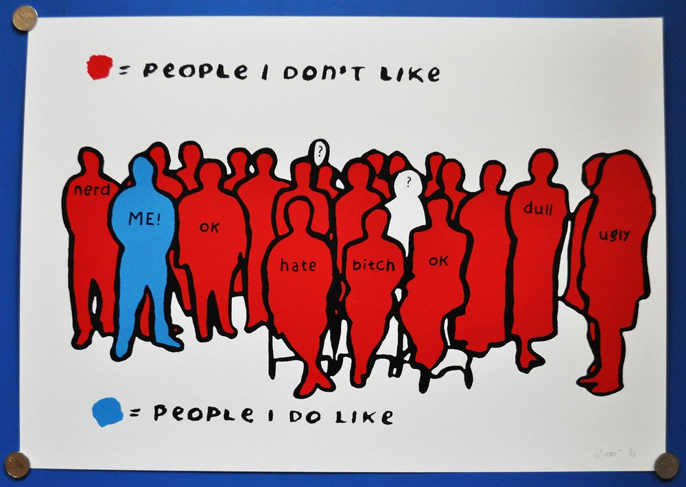 Image of People i like Print (Blue/Red)