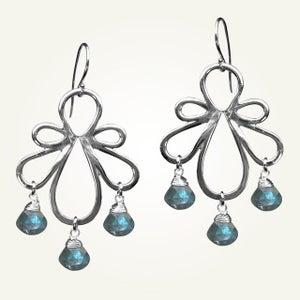 Image of Biergarten Earrings with Labradorite, Sterling Silver