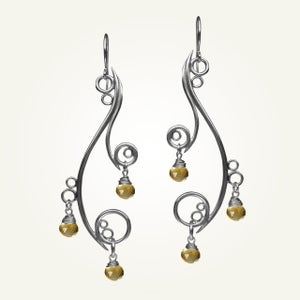 Image of Greek Isle Earrings with Citrine, Sterling Silver
