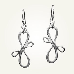 Image of Victorian Ribbon Mini Earrings, Sterling Silver