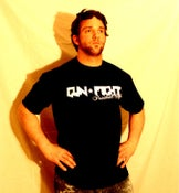 Image of Gun Fight (logo) black T