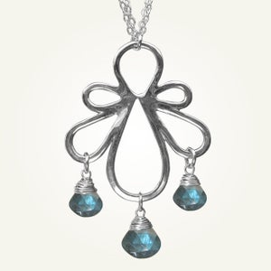 Image of Biergarten Necklace with Labradorite, Sterling Silver
