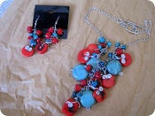Image of Turquoise & Coral Stone Set