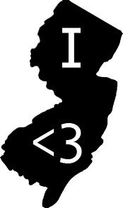 Image of I <3 Jersey Sticker
