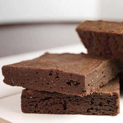 Image of gluten-free* fudge brownie