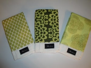 Image of Amy Butler Lime Burp Cloth Set
