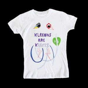 Image of KLAXONS ARE KUNTS - SKINNY/WOMENS TEE